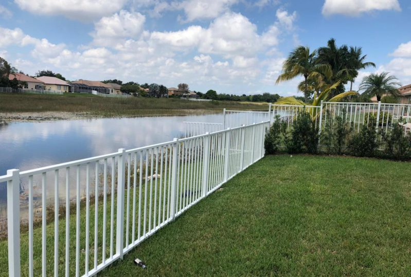 White Aluminum Picket Fence