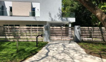 Aluminum and Tech Wood Fence