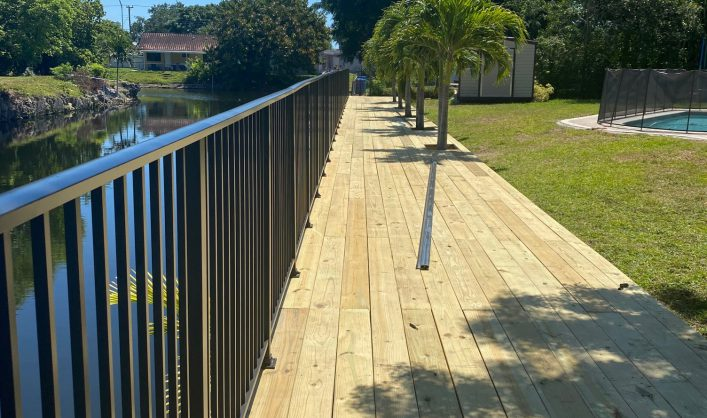 Wood Deck and Aluminum Fence