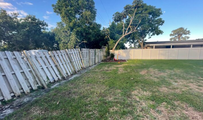 Wood Fence to PVC